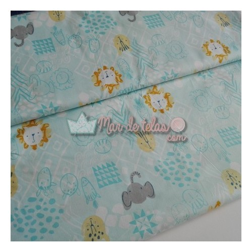 Patchwork animales selva eco 16€/m